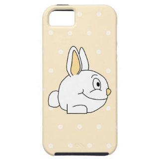 White Rabbit, on beige polka dot patten. iPhone SE/5/5s Case