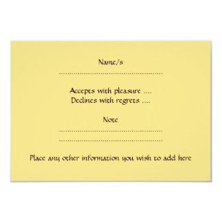 White Rabbit on Yellow Background. 3.5x5 Paper Invitation Card