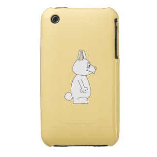 White Rabbit on Yellow Background. iPhone 3 Covers