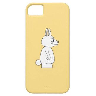 White Rabbit on Yellow Background. iPhone SE/5/5s Case