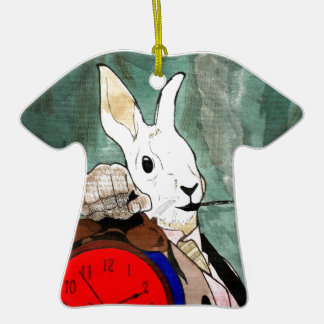 white rabbit Double-Sided T-Shirt ceramic christmas ornament