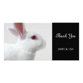White Rabbit Picture Card