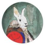 white rabbit plato de cena