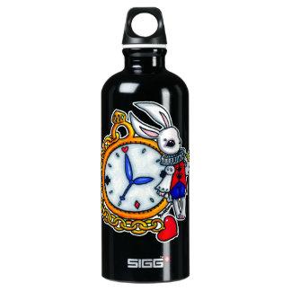 White Rabbit pocket watch Aluminum Water Bottle