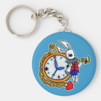 White Rabbit pocket watch Keychain