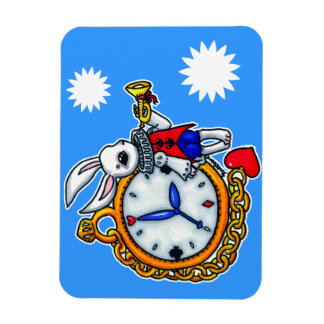 White Rabbit pocket watch Magnet