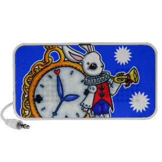 White Rabbit pocket watch Portable Speaker