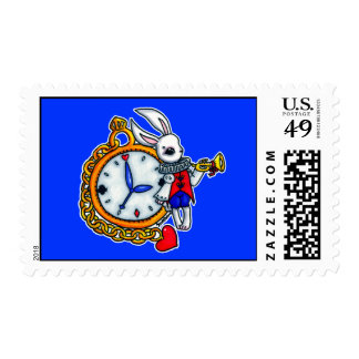 White Rabbit pocket watch Stamps