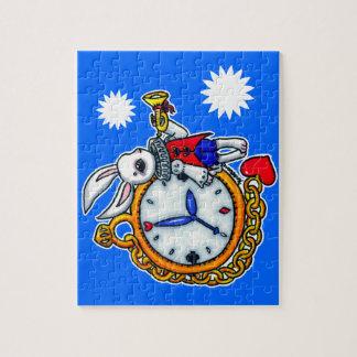 White Rabbit pocket watch Jigsaw Puzzles