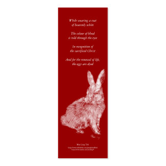 White Rabbit poetry bookmark Mini Business Card