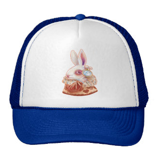 white Rabbit Pop Surrealism Illustration Hat