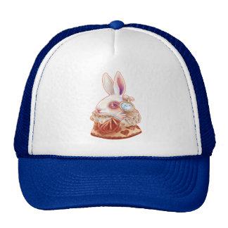 white Rabbit Pop Surrealism Illustration Hat Trucker Hat