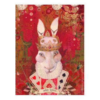 White Rabbit Postcard
