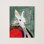 white rabbit rompecabezas con fotos