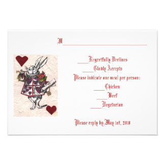 White Rabbit RSVP Personalized Invitations