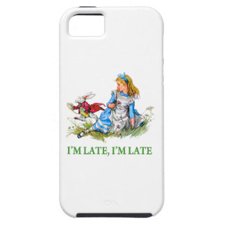 """White Rabbit Rushes by Alice, """"i'm Late, I'm Late"""" iPhone SE/5/5s Case"""