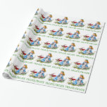 """White Rabbit Rushes by Alice, """"i'm Late, I'm Late"""" Wrapping Paper"""