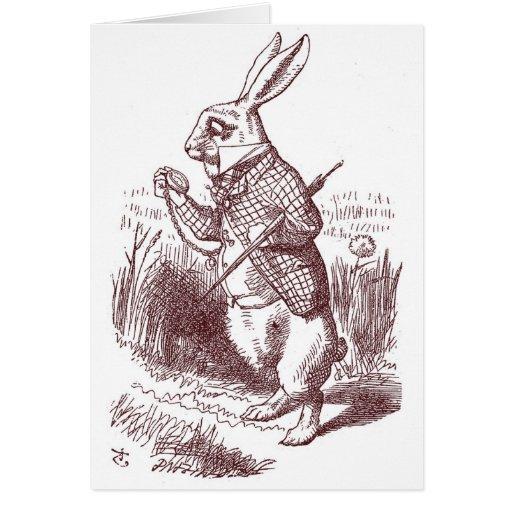 White Rabbit Shower Invitation