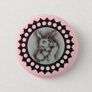 White Rabbit Sketch Pinback Button