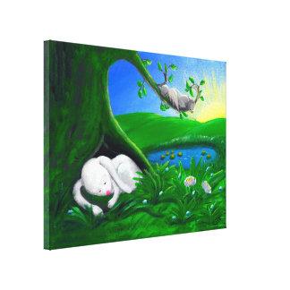 White Rabbit | Super Cute Nursery Canvas Print