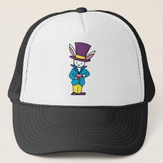White Rabbit Tea Party Trucker Hat