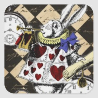 White Rabbit Through the Looking Glass Stickers