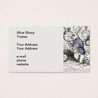 White Rabbit Time Alice in Wonderland Business Card