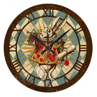 White Rabbit Vintage Alice Large Clock
