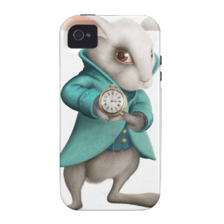 White rabbit with clock iPhone 4/4S case