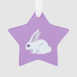 White Rabbit With Long Ears Art