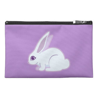 White Rabbit With Long Ears Art Travel Accessories Bags