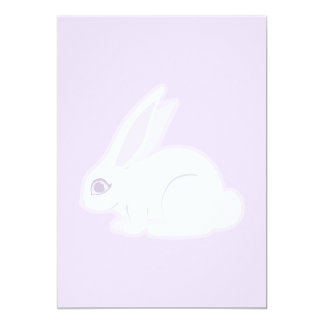 White Rabbit With Long Ears Art Card