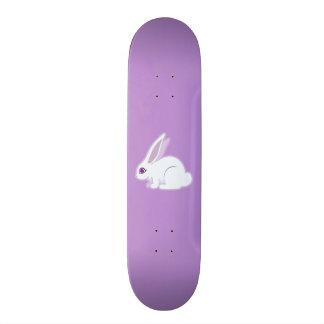 White Rabbit With Long Ears Art Skateboard Deck