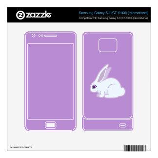 White Rabbit With Long Ears Art Samsung Galaxy S II Skin
