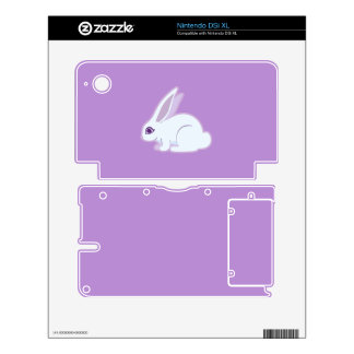 White Rabbit With Long Ears Art DSi XL Decals