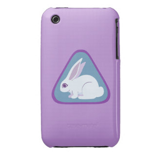 White Rabbit With Long Ears Triangle Art iPhone 3 Case-Mate Cases