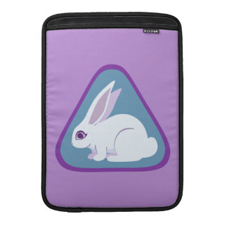 White Rabbit With Long Ears Triangle Art MacBook Air Sleeves