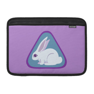 White Rabbit With Long Ears Triangle Art MacBook Sleeve