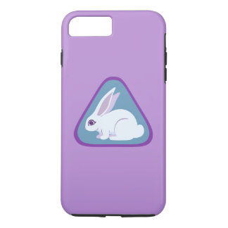White Rabbit With Long Ears Triangle Art iPhone 8 Plus/7 Plus Case