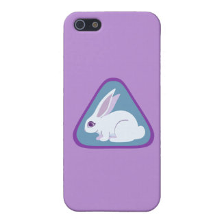 White Rabbit With Long Ears Triangle Art iPhone SE/5/5s Cover