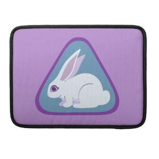 White Rabbit With Long Ears Triangle Art Sleeve For MacBooks