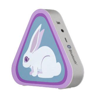 White Rabbit With Long Ears Triangle Art Speaker