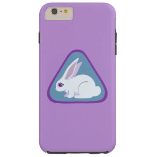 White Rabbit With Long Ears Triangle Art Tough iPhone 6 Plus Case