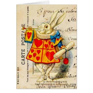 White Rabbit Wonderland Card