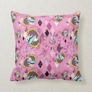 white rabbit wonderland throw pillow cushion