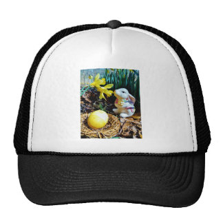 White Rabbit, yellow Easter egg Trucker Hat