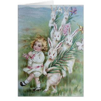 White Rabbits Following Girl Card