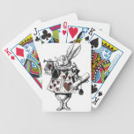 White Rabbits of Hearts - Alice in Wonderland Bicycle Playing Cards