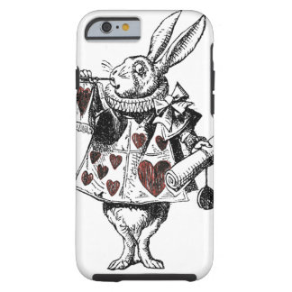 White Rabbits of Hearts - Alice in Wonderland Tough iPhone 6 Case
