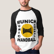 White raglan basic tee-shirt/black MUNICH HANDBALL T-Shirt